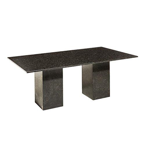 Granit Gartentisch Pearl Black Satiniert   Rechteckiger, Dunkelgrauer  Granittisch U0027Vikingu0027 240x100 Cm