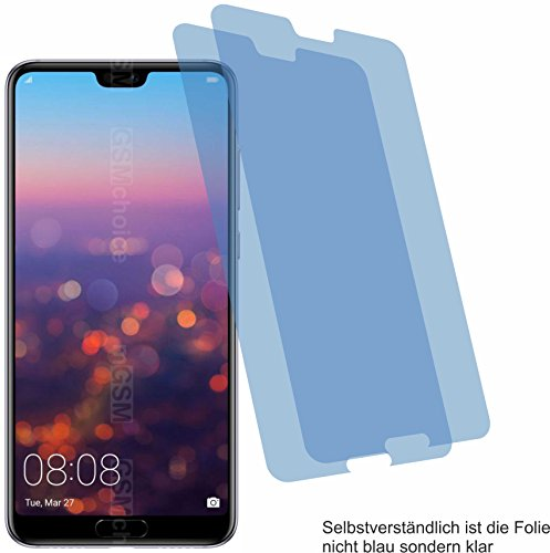 4ProTec 2X Crystal Clear klar Schutzfolie für Huawei P20 Pro Bildschirmschutzfolie Displayschutzfolie Schutzhülle Bildschirmschutz Bildschirmfolie Folie