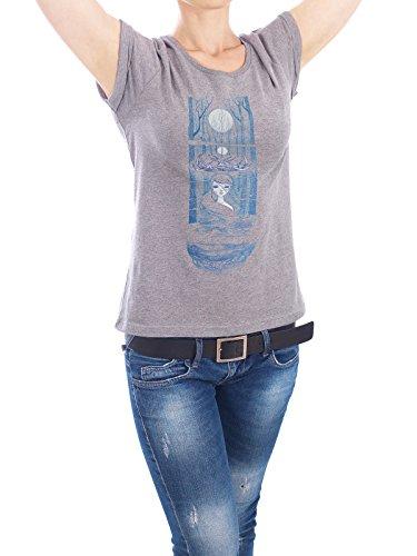 "Design T-Shirt Frauen Earth Positive ""Forest Spirit"" - stylisches Shirt Natur Menschen Fiktion von Liis Roden Grau"