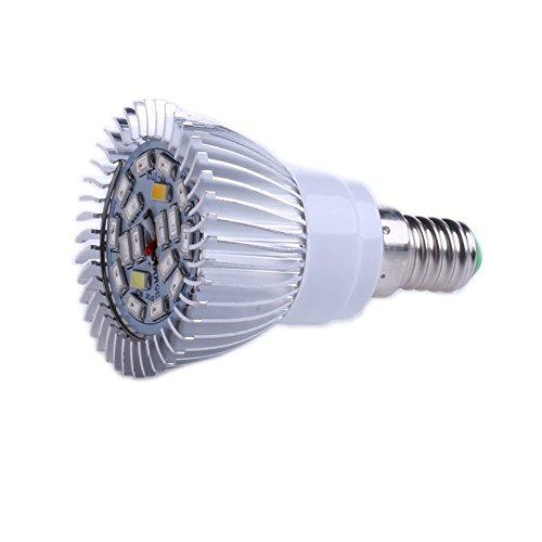 JENOR Pflanzenlampe E14, 18 W, 18 LEDs, SMD 5730, Hydrokultur, Vollspektrumlampe
