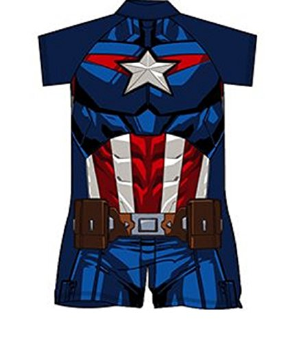 boys-sun-suit-trunks-swimming-holiday-beach-wear-character-super-hero-official-3-4-years-captain-ame