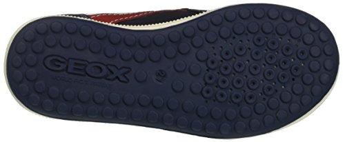Geox Jr Vita A, Sneakers Basses Garçon Bleu (Navy/redc0735)