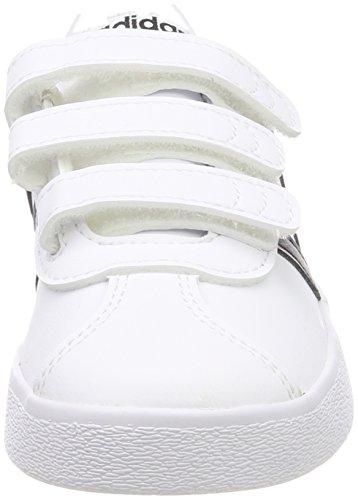 wholesale dealer ebb8e 06bcd adidas VL Court 2.0 Cmf C, Scarpe da Tennis Unisex-Bambini, Bianco  CblackFtwwht 000, 31 EU