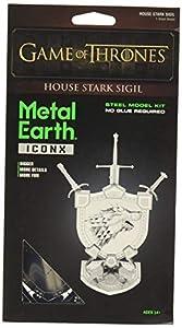 Professor PUZZLE Juego de Tronos Metal Tierra, Casa Stark Sigil