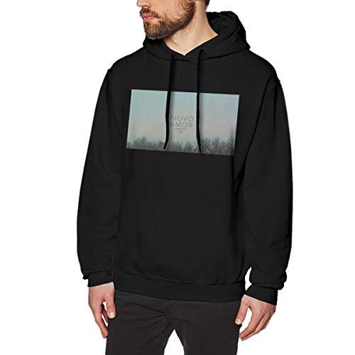 DaaoplingGeebaght Herren Novo Amor Strassenmode Black XL Fleece-Pullover Mit Kapuze -