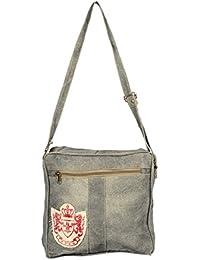 Priti Vintage Design Washed Canvas Hand Paint Handbag Office Handbag Cross Body Bag Messenger Cross Body Shoulder...