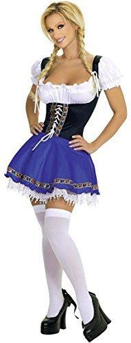 rndel Oktoberfest Schwedisch deutsche Bier Mädchen Kostüm Verkleidung Outfit UK 8-18 - Blau, Blau, 22-24 (Mädchen Deutsch-kostüm)
