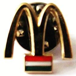 Mc Donalds - Luxemburg - Logo & Flagge - Pin 15 x 15 mm