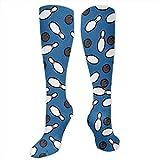 RIPO Socken für Damen, Herren, Mädchen, Bowling-Socken, für bessere Durchblutung, Blau