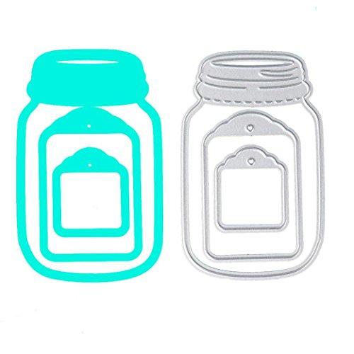 Culater Plantillas para Estarcir Gofrado Troquelado Kit Almohadilla de Papel Dies Corte en Relieve Grabado (Botella)