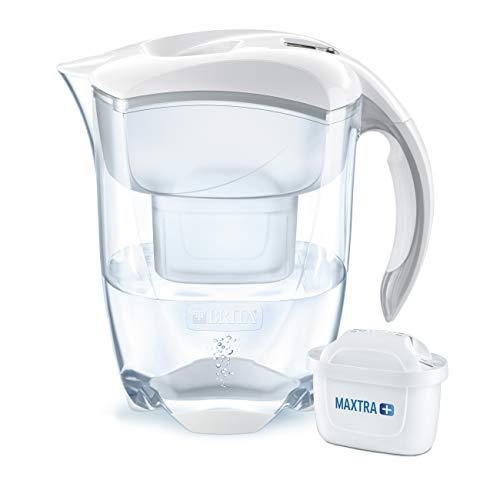 BRITA Wasserfilter Elemaris XL weiß, inkl. 1 MAXTRA+ Filterkartusche - großer Wasser-Genuss durch die zuverlässige Reduzierung von Kalk und Chlor im Leitungswasser