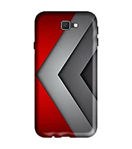 Samsung Galaxy J2-6 (2016 Edition) Back Cover Designer 3d printed Hard Case Cover for Samsung J2 2016 Edition by Gismo - Pattern ColorFul Red Grey Print