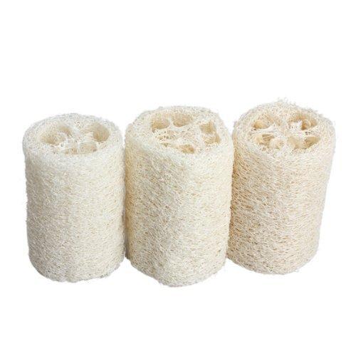 """Natural Lufa Exfoliante Esponja de baño (3unidades de 4""""rascador de espalda) mejor esponja de Body Wash Esponja."""