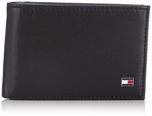 Tommy Hilfiger ETON MINI CC FLAP & COIN POCKET BM56927539 Herren Geldbörsen 11x7.5x2 cm (B x H x T), Schwarz (BLACK 990)