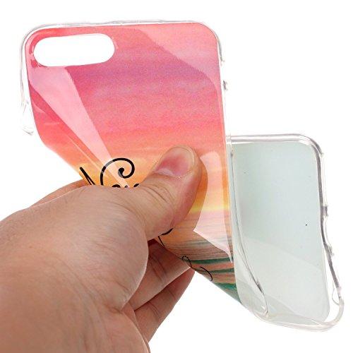 Pour Apple iPhone 7 4.7 Coque,Ecoway Housse étui en TPU Silicone Shell Housse Coque étui Case Cover Cuir Etui Housse de Protection Coque Étui –YH-10 YH-09