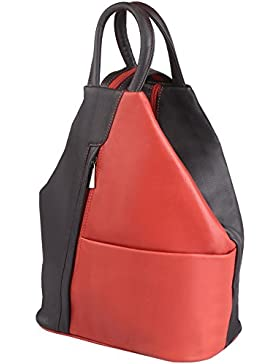 felderberg 'Jolie' 2in 1 Rucksack und Handtasche aus wunderbar weichem Echt-Leder