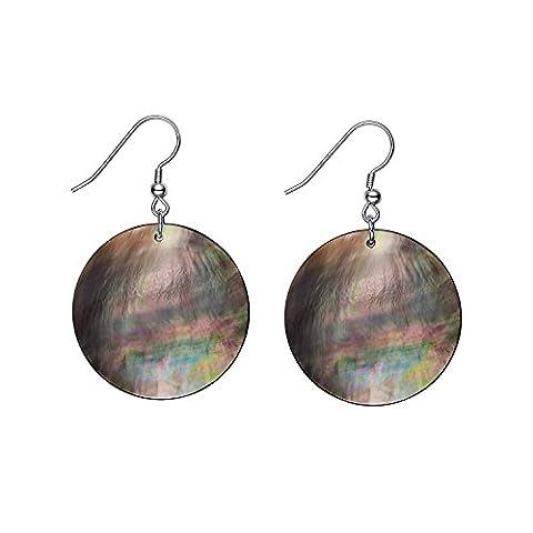Damen Ohrhänger Hängende Natürliche Süßwasser Perlmutt Tropfen Ohrringe 925 Sterling Silber Schmuck Geschenk