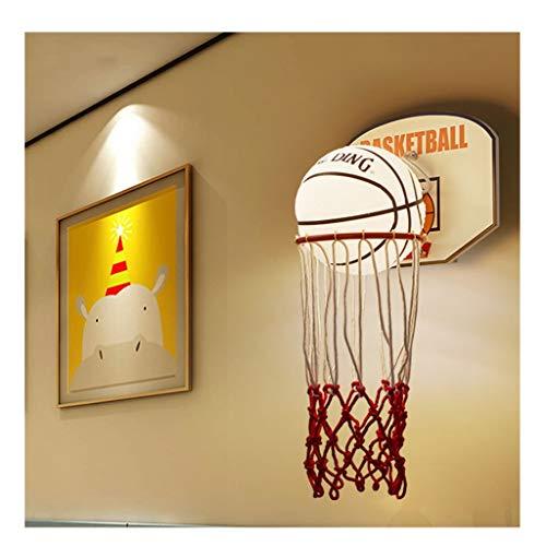 Wandleuchten LED-Wandleuchte, Kinderwandleuchte nette Karikatur Kreative Basketball Nachttischlampe Schlafzimmer Modern Fashion-Raum-Wand-Lampe [Energieklasse A ++] (Color : Three-color light)