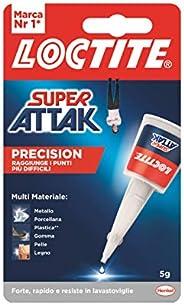 Loctite Super Attak Precision, Colla liquida trasparente con beccuccio extra lungo, Colla universale istantane