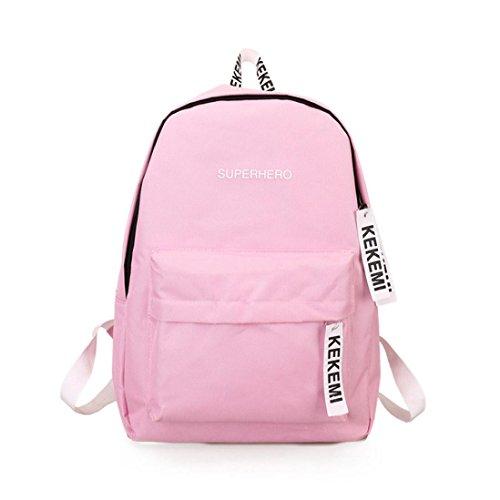 Imagen de  escolares,smartlady mujer juveniles niña moda letra imprimir estilo lienzo bolsas escolares para deporte viaje rosa