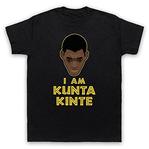 Roots I Am Kunta Kinte Herren T-Shirt Schwarz