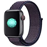compatible Apple Watch Strap 42mm 44mm, Nylon Sport Loop Band Replacement Wristband for Apple iWatch Series 4, Series 3, Seri