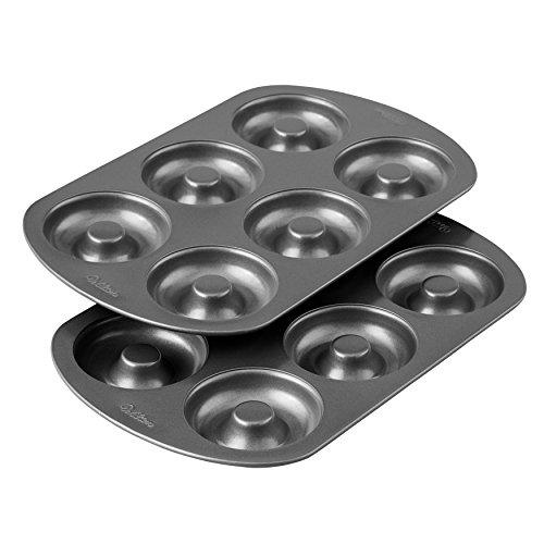 Wilton 6 Cavity Cake Donut Baking Pan Durable Steel Non Stick Finish (2-Pack) Non-stick Finish