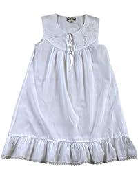 Girls Sleeveless Cotton Nightdress Age 6 7