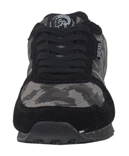 Camuflagem Moda Da Diesel Da Jow Sapatos Senhoras Da 300 Sapatilha Joggon Negra TIwvq11
