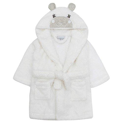 Babys Unisex Lamm Bademantel Kuscheln Gewand super weich Fleece 6-12 12-18 18-24 - Weiß, 86-92