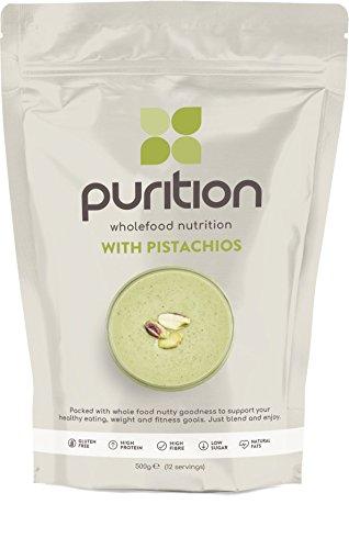 Batido de proteínas de pistacho (500g). Ideal para perder peso & recuperación post-ejercicio – sustituto de comida 100% natural – Batido para el desayuno