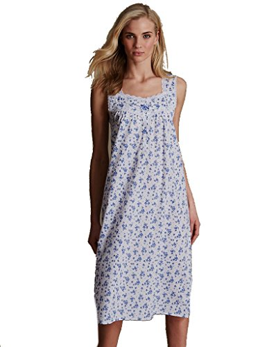 Marks & Spencer -  Camicia da notte  - Donna Blue Mix