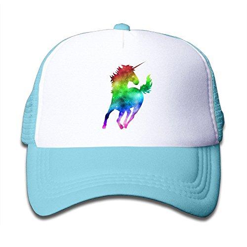 Doormat bag Rainbow Galaxy Unicorn Kids Mesh Cap Trucker Hats Adjustable Black