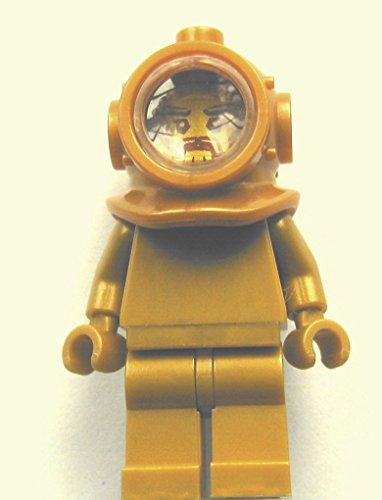 LEGO - Minifigur Custom Taucher in Pearl Gold (Batman Lego Minifiguren Custom)