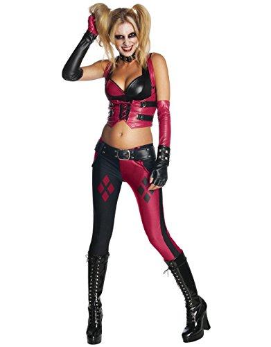 Harley Quinn Damen Kostüm Arkham City Harley Quinn-Motiv, XS, USA (0-2), Büste 32- 86.36 cm, Taille 22- 60.96 (Arkham Batman Kostüm Quinn City Harley)