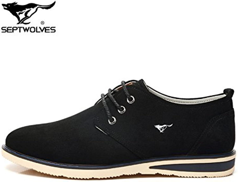 Aemember zapatos de hombre Primavera/Verano Zapatos de lona zapatos silvestre correa de cabeza redonda transpirable  -