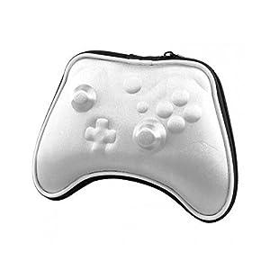 OSTENT Air Foam Hard Pouch Tasche Hülle für Microsoft Xbox One Wireless Controller – Farbe Silber