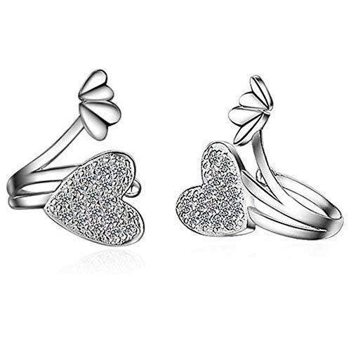 Dc cloud orecchini orecchini a clip orecchini a forma di cuore orecchini di diamanti orecchini senza piercing orecchini ragazza orecchini raffinati silver