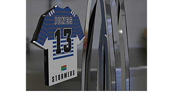 60869824c71 FanPlastic SUPER 15 RUGBY UNION TEAM JERSEY FRIDGE MAGNET - You choose the  name, number and team colours - FREE PERSONALISATION!!! (Stormers Super  Rugby ...