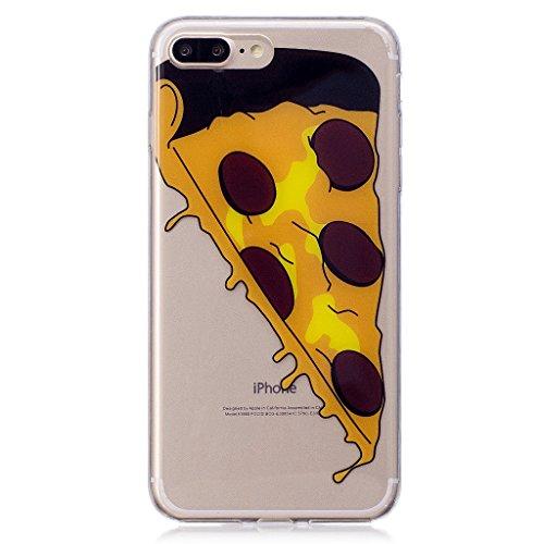 """Hülle für Apple iPhone 7 Plus , IJIA Transparente Niedlich Einhorn TPU Weich Silikon Stoßkasten Cover Handyhülle Schutzhülle Handytasche Schale Case Tasche für Apple iPhone 7 Plus (5.5"""") (WM111) WL6"""