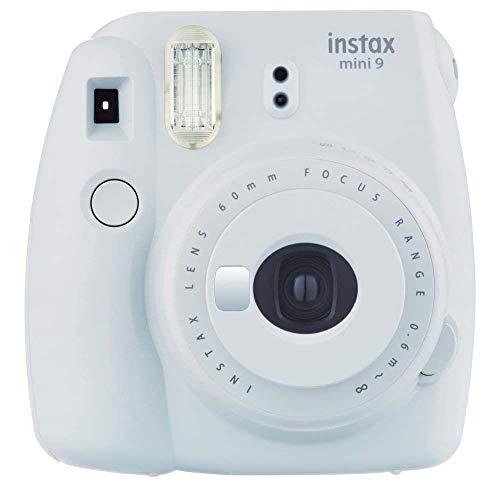 Fujifilm Instax Mini 9 Smoky White Fotocamera Istantanea per Foto Formato 62x46 mm, Bianco