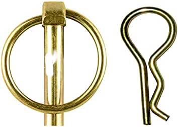 CHAIN TOWING PIN 1 1//8 X 6 INCH WITH LINCH PIN