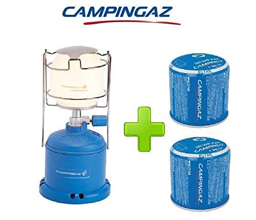 ALTIGASI Lanterne Lampe à gaz Camping 206 l 80 W + 2 pièces Cartouche à gaz Campingaz C206 GLS