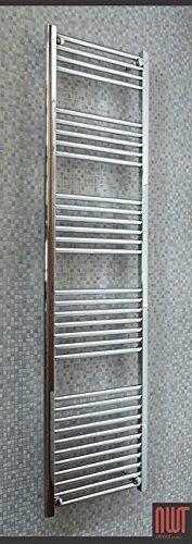 Straight Chrome Heated Towel Rails, Ladder Rails - 500mm (w) x 1800mm (h)