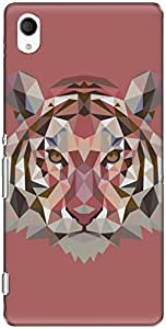 The Racoon Grip printed designer hard back mobile phone case cover for Sony Xperia M4 Aqua. (Ruby Fract)