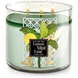 Bath and Body Works Home Lemon Mint Leaf scented, 14.5 oz, 3 wicked candle