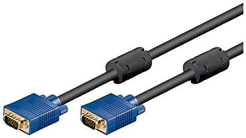 Goobay - Câble moniteur (connecteur Mâle HD de 15 broches vers connecteur Mâle HD de 15 broches XGA SVGA, 10m), couleur noir 1 x