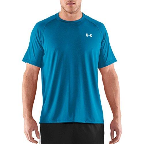 Under Armour Tech T-Shirt manches longues 1/4 zip homme Snorkel/White/Open Blue