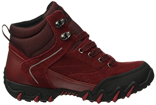 Allrounder by Mephisto Nigata-tex Rubber 1/O.suede 48, Bottes Classiques femme Rouge - Rot (BLACK/MID RED)