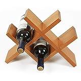 Portabottiglie mensola portabottiglie pensile portabottiglie portabottiglie espositore per Bottiglie di Vino per Uso Domestico portabottiglie da Parete (Color : Brown, Size : 36 * 10 * 27cm)